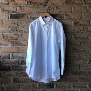 JOE FRESH | Crisp white long collared button up